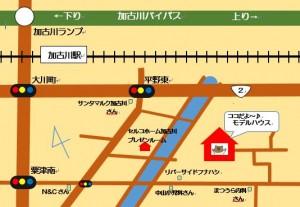 モデルハウス地図1